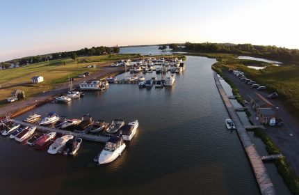 Bird's eye view of Clark's Marina