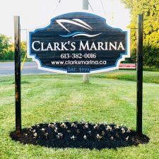 Clark's Marina Sign